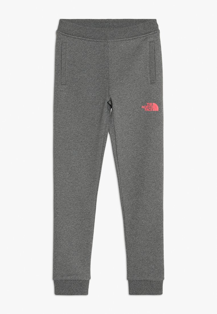 The North Face - SLIM FIT - Tracksuit bottoms - mottled grey/pink