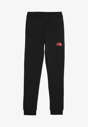 SLIM FIT - Spodnie treningowe - black