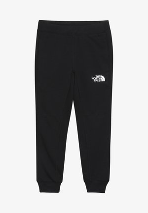 SLACKER CUFFED  - Tracksuit bottoms - black