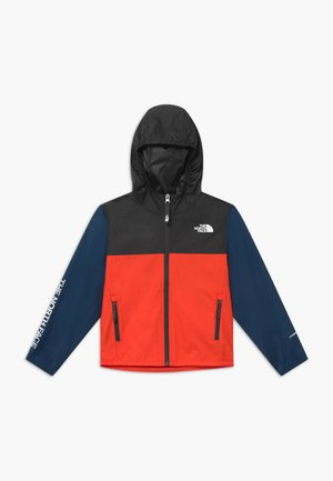 YOUTH REACTOR JACKET - Windjack - fiery red/asphalt grey