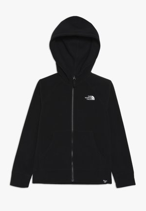 GLACIER HOODIE - Fleece jacket - black/white