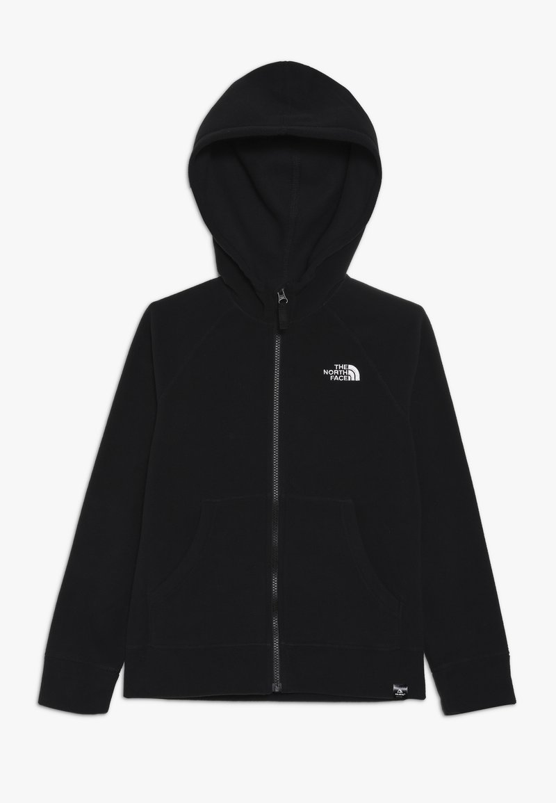 The North Face - GLACIER HOODIE - Fleecová bunda - black/white
