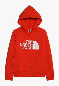 The North Face - DREW PEAK - Mikina skapucí - fiery red/white - 0