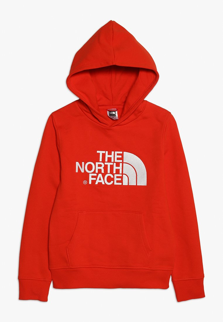 The North Face - DREW PEAK - Mikina skapucí - fiery red/white