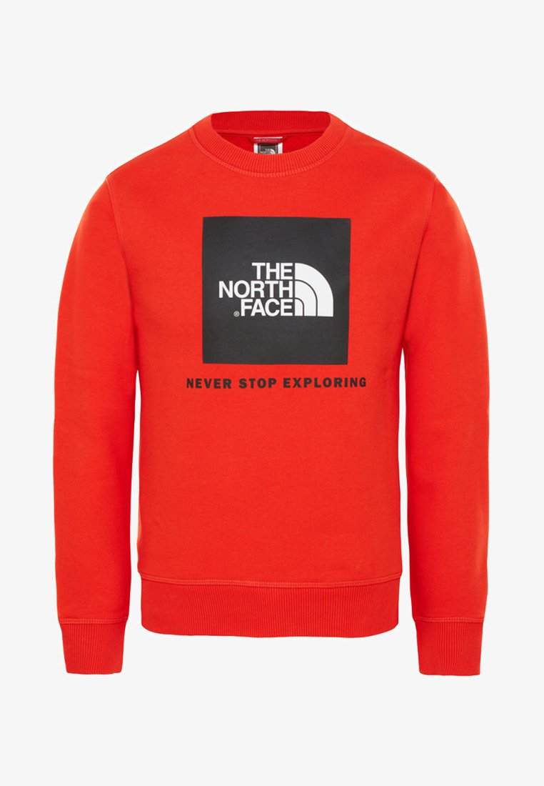 The North Face - BOX CREW  - Sweatshirt - red