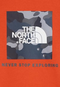The North Face - YOUTH BOX CREW - Felpa - fieryred/blue