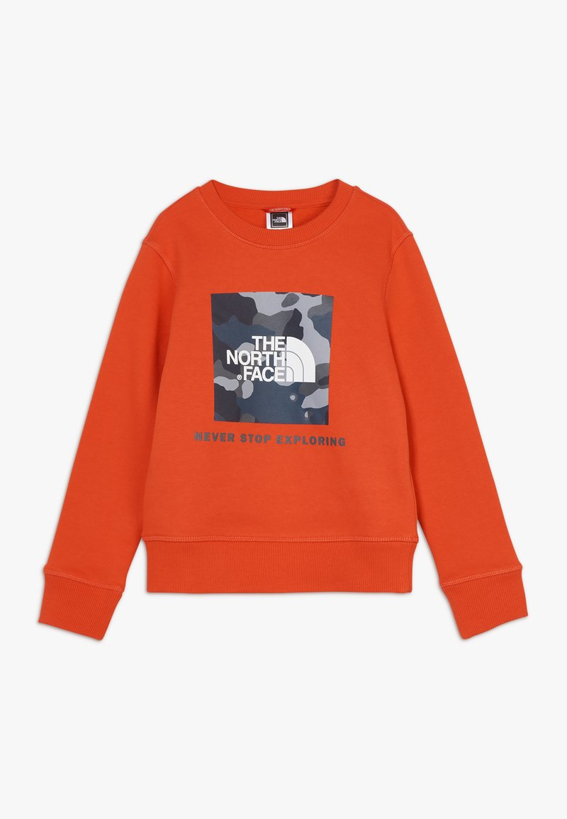 The North Face - YOUTH BOX CREW - Bluza - fieryred/blue