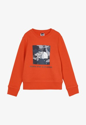 YOUTH BOX CREW - Sweatshirt - fieryred/blue