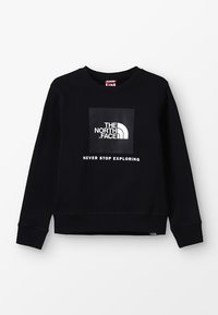 The North Face - YOUTH BOX CREW - Sweatshirt - black - 0
