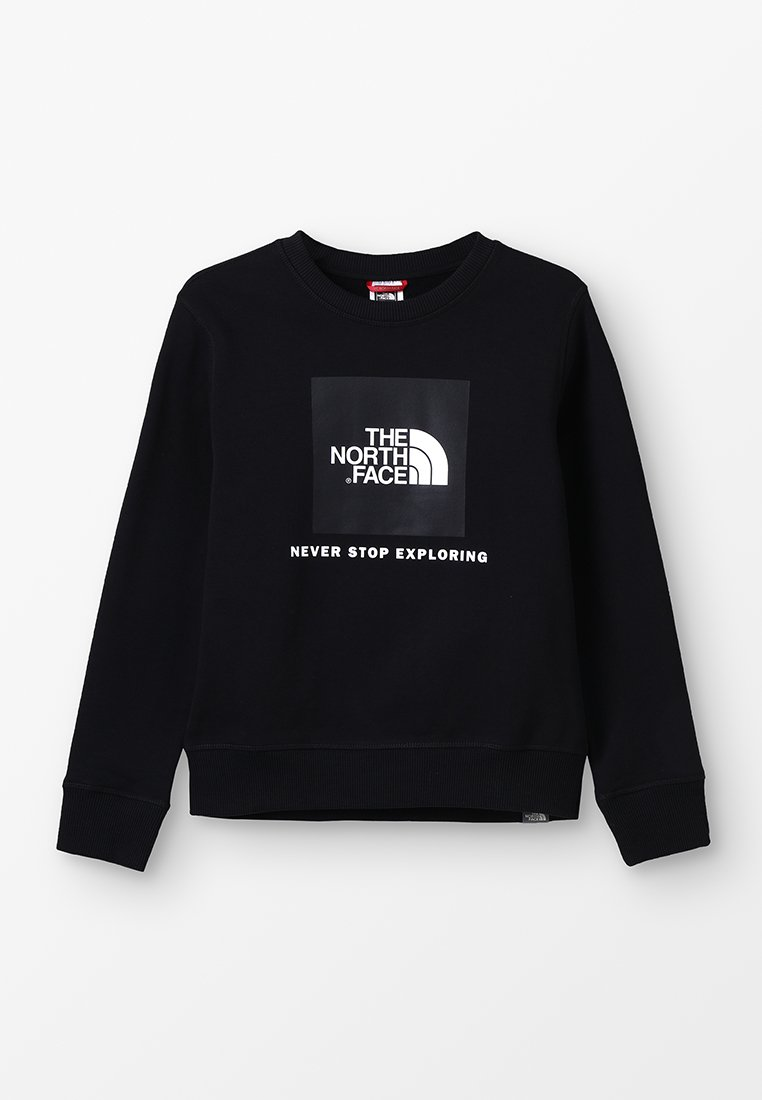 The North Face - YOUTH BOX CREW - Sweatshirt - black