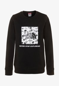 The North Face - YOUTH BOX CREW - Felpa - black - 0