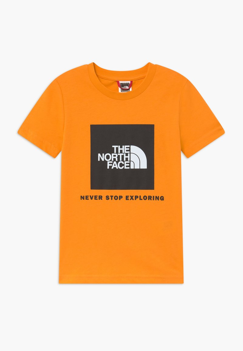 The North Face - BOX TEE - T-Shirt print - flame orange