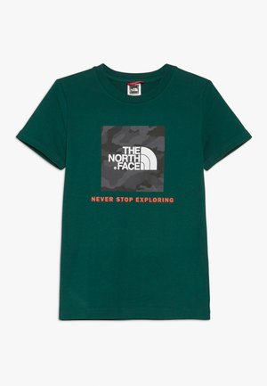 BOX TEE  - T-shirt z nadrukiem - night green