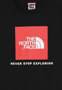 The North Face - BOX TEE  - T-shirt z nadrukiem - black/red - 3