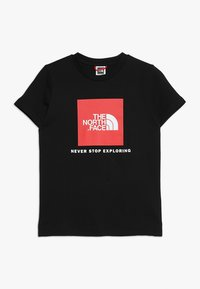 The North Face - BOX TEE  - T-shirt med print - black/red - 0