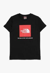 The North Face - BOX TEE  - T-shirt z nadrukiem - black/red - 0