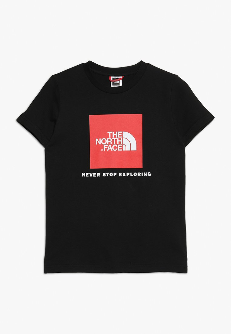 The North Face - BOX TEE  - T-shirt med print - black/red
