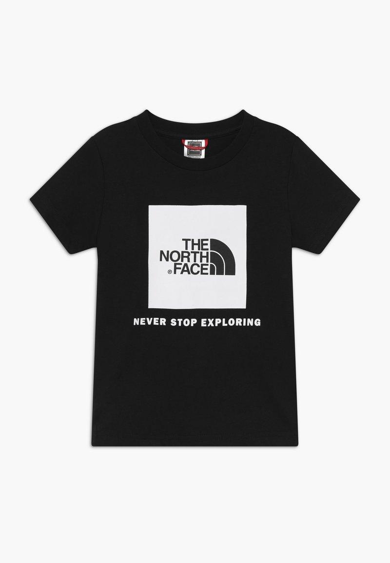The North Face - BOX TEE - Triko spotiskem - black/white