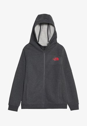 FULL ZIP - Huvtröja med dragkedja - medium grey heather