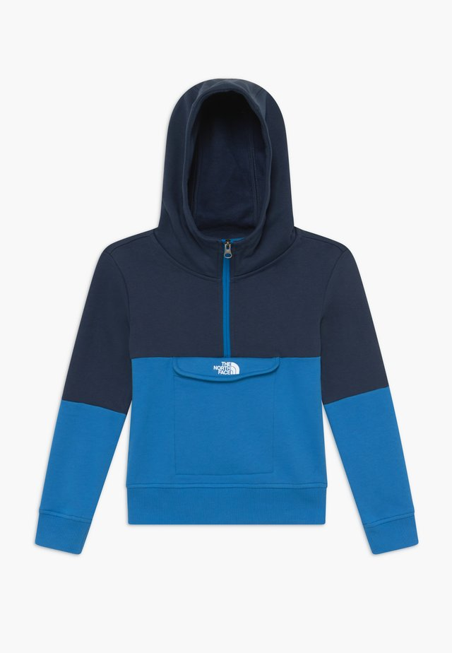 YOUTH YAFITA 1/4 ZIP - Bluza z kapturem - clear lake blue
