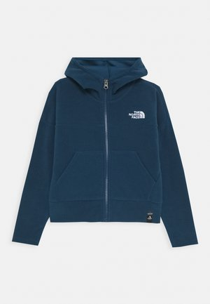 GIRL'S GLACIER FULL ZIP HOODIE - Kurtka z polaru - blue wing teal