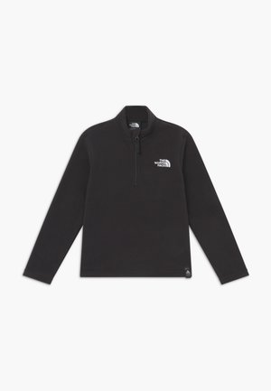 YOUTH GLACIER 1/4 ZIP - Felpa in pile - black/white