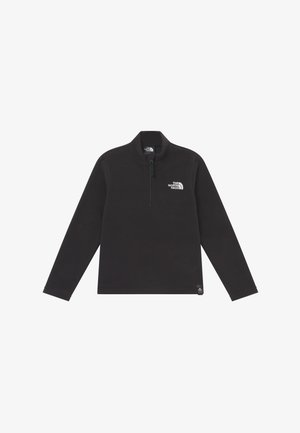 YOUTH GLACIER 1/4 ZIP - Fleecová mikina - black/white