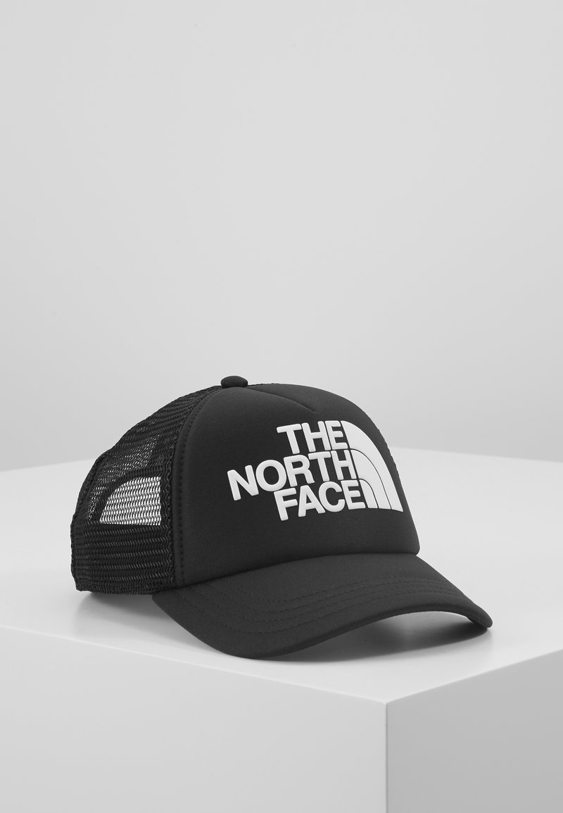 The North Face - LOGO TRUCKER - Cappellino - black/white
