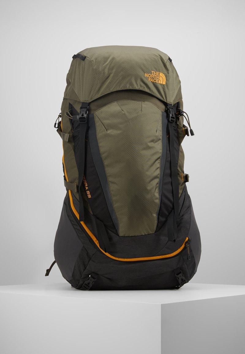 The North Face - TERRA 55 - Mochila de trekking - dark grey heather/new taupe green