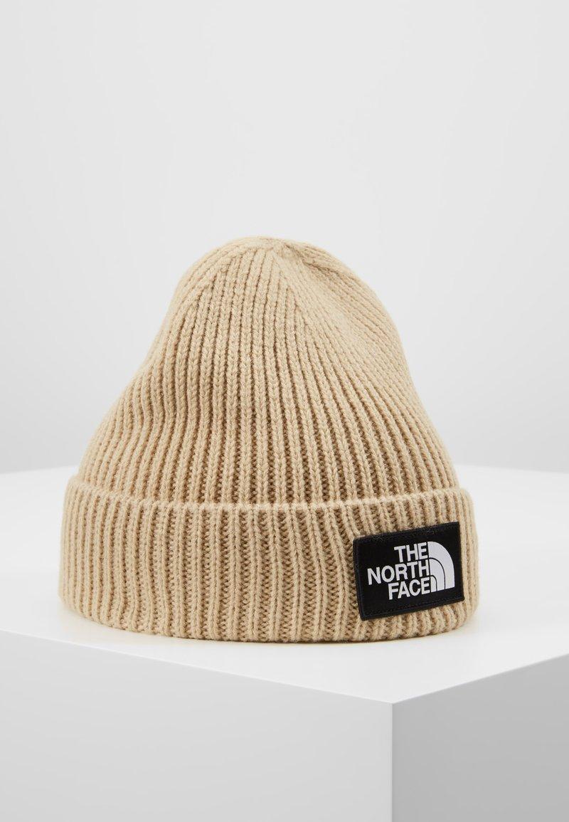 The North Face - LOGO BOX CUFFED BEANIE - Mütze - beige