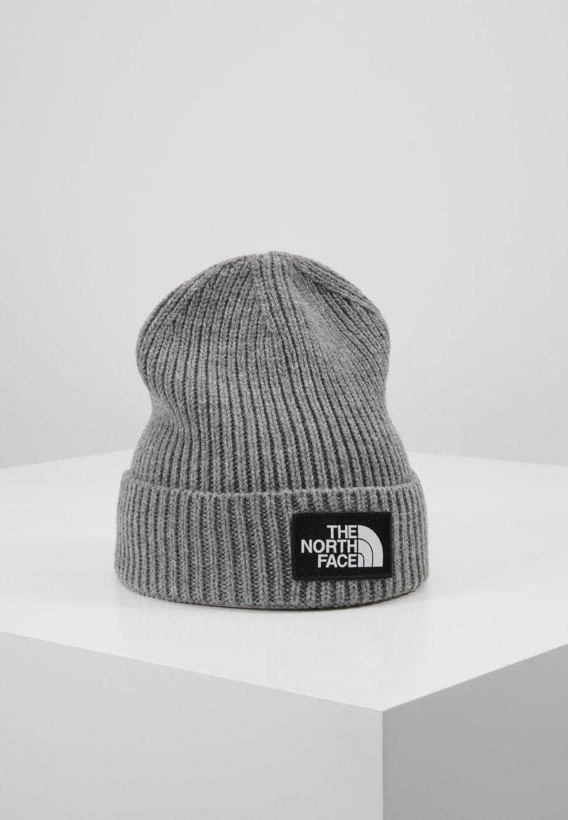 The North Face - LOGO BOX CUFFED BEANIE - Mütze - medium grey heather