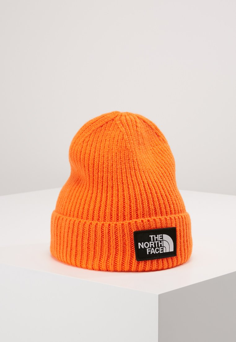 The North Face - LOGO BOX CUFFED BEANIE - Gorro - persian orange