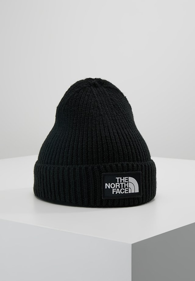 LOGO BOX CUFFED BEANIE - Beanie - black