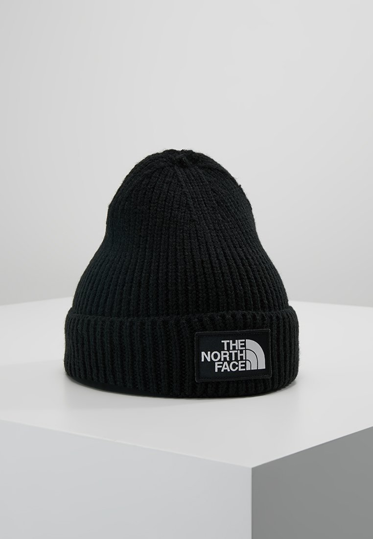 The North Face - LOGO BOX CUFFED BEANIE - Beanie - black