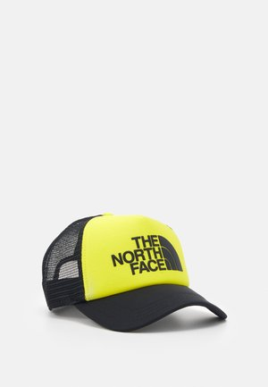 LOGO TRUCKER - Cap - black/lemon