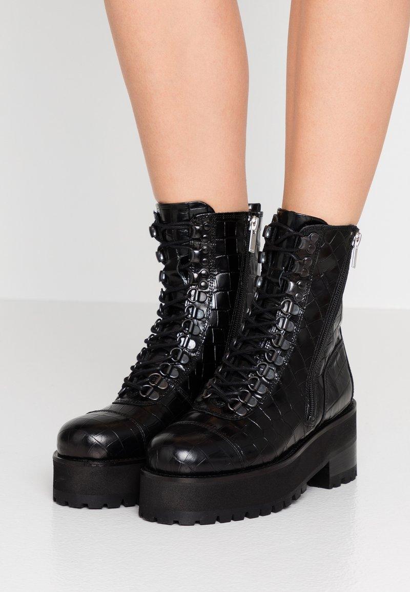 The Kooples - Platform ankle boots - black