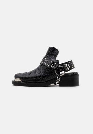 BOTTINES WESTERN CROCO - Ankelstøvler - black