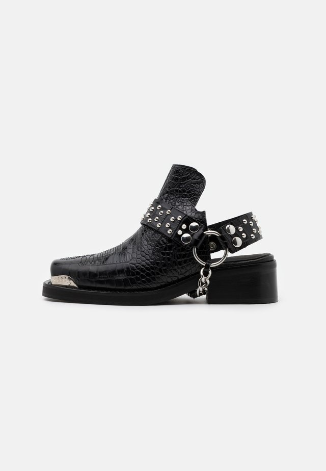 BOTTINES WESTERN CROCO - Ankelstøvler - black