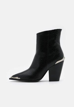 BOTTINES - High heeled ankle boots - black