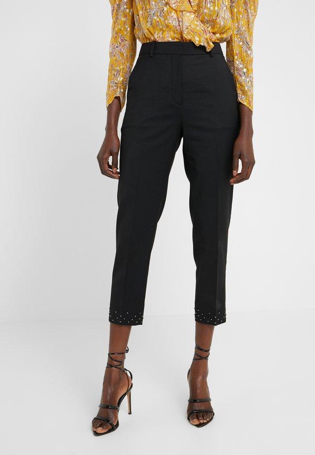 PANTALON - Spodnie materiałowe - black / silver