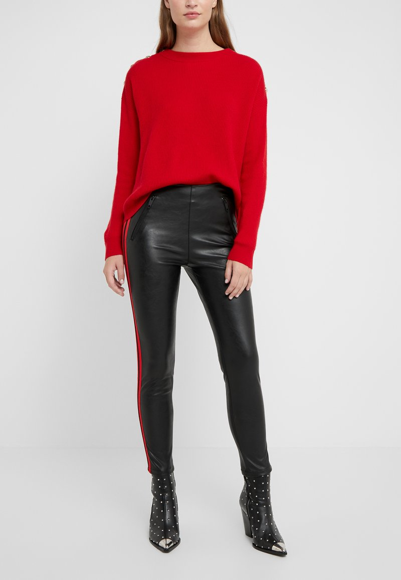 The Kooples - JEAN - Leggings - Hosen - black/red
