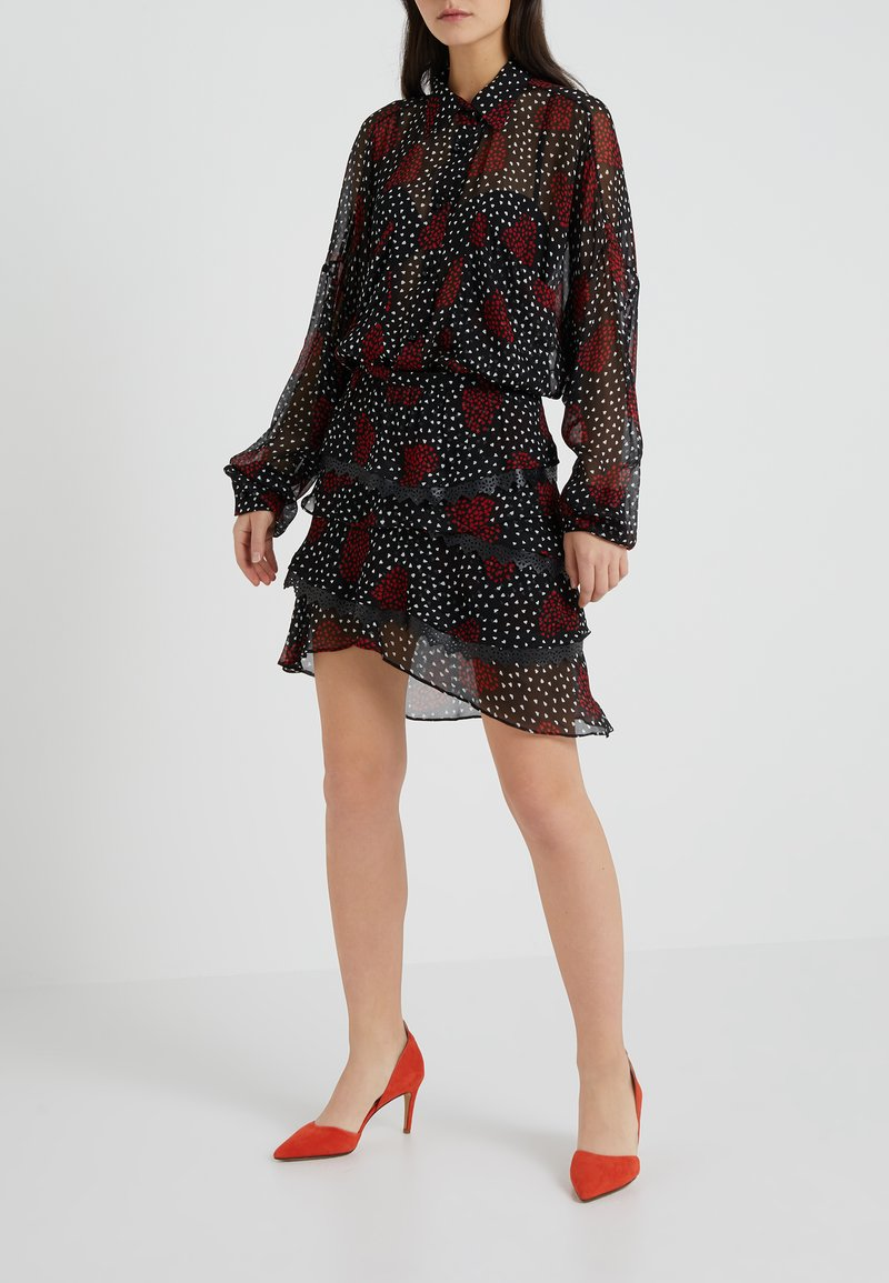 The Kooples - A-Linien-Rock - red/black/white