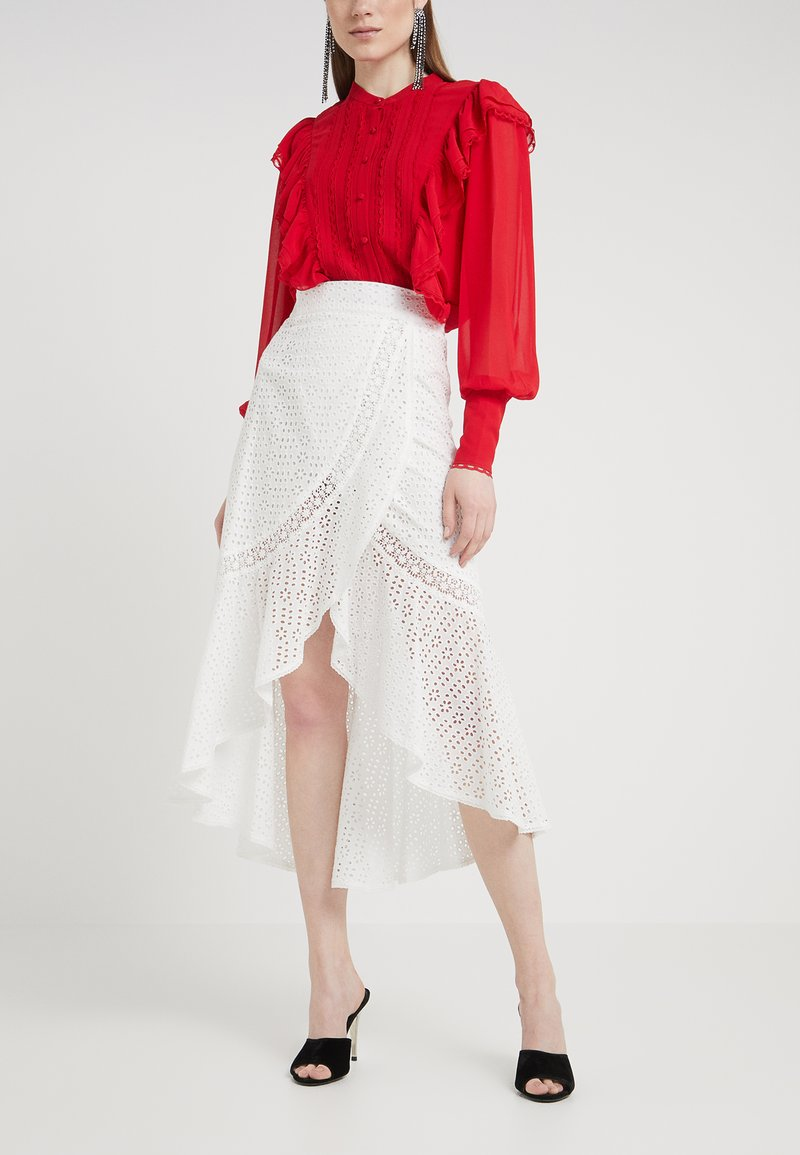 The Kooples - Falda cruzada - white