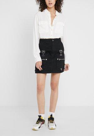 A-line skirt - black washed