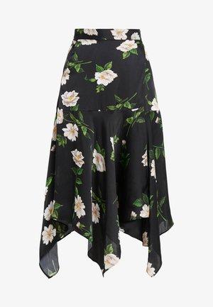 Spódnica trapezowa - black/ecru