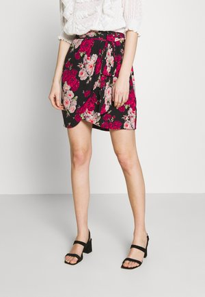 SKIRT - A-line skirt - black/pink