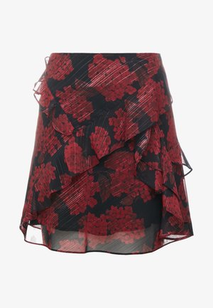 JUPE - Gonna a campana - red/black