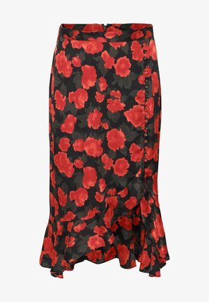 SKIRT - A-Linien-Rock - black - red