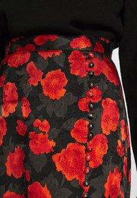 The Kooples - SKIRT - A-line skirt - black - red - 4
