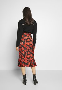 The Kooples - SKIRT - A-line skirt - black - red - 2